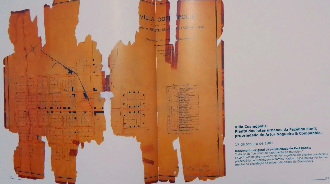 Este documento do acervo de Karl Kadow, que traz a planta dos lotes urbanos da Fazenda Funil, foi resgatado do lixo na década de 1970.