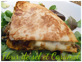 Quesadillas au boeuf et curry
