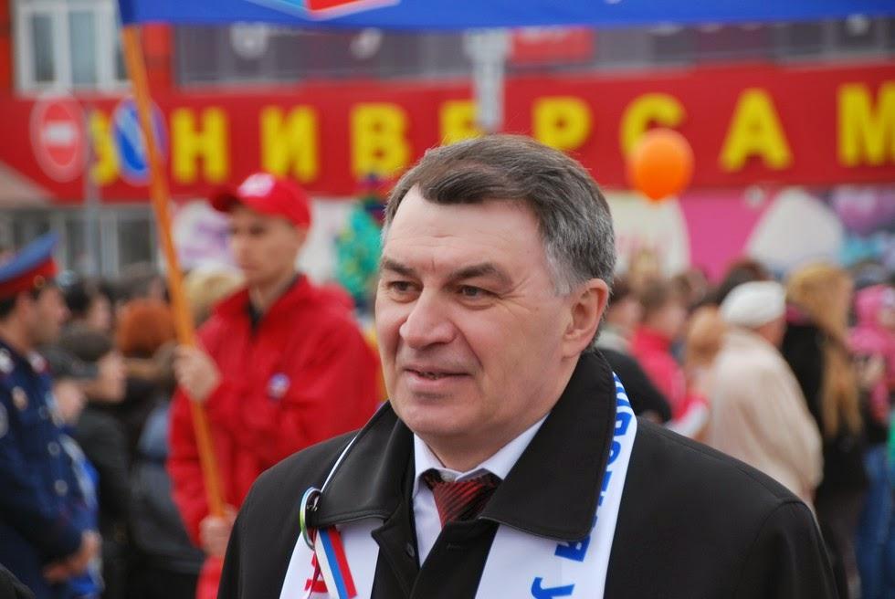Виктор Анатольевич Кочнев на демонстрации