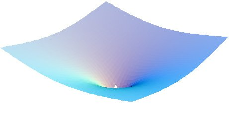 Model of a gravitational well with event horizon
