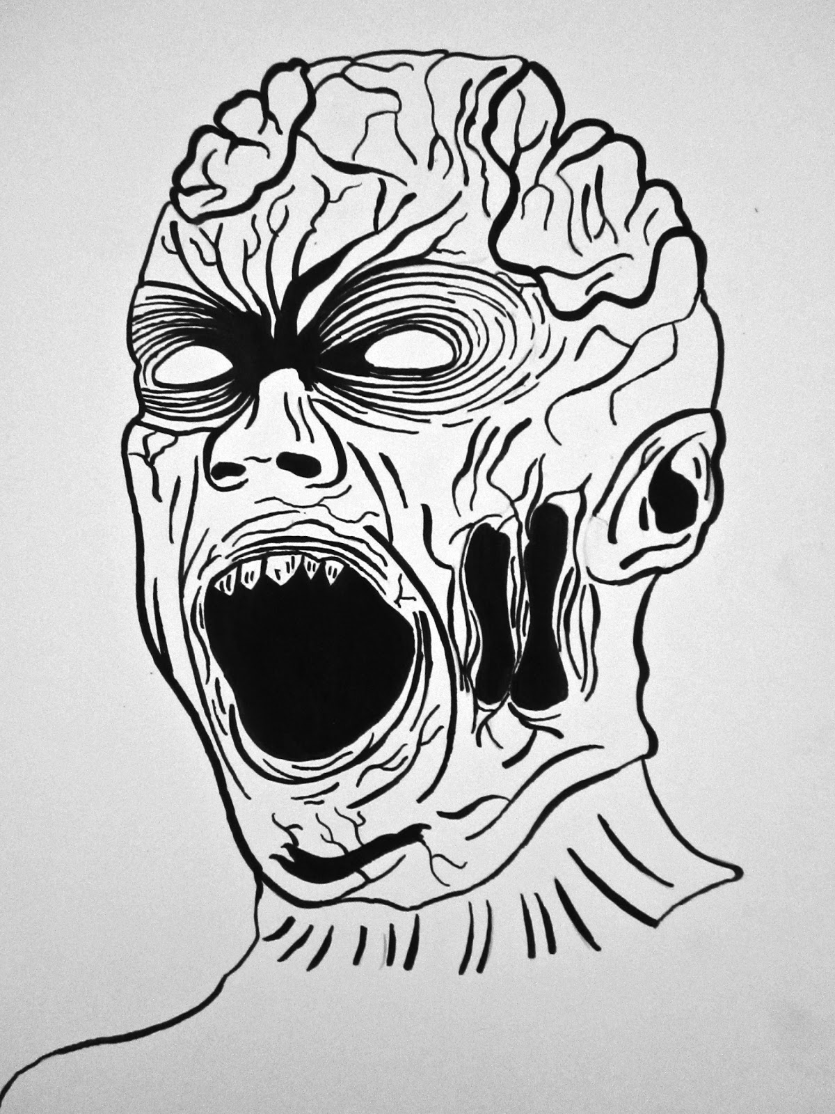Posted by Graeme Nishida at 8 00 PMZombie Face Drawing