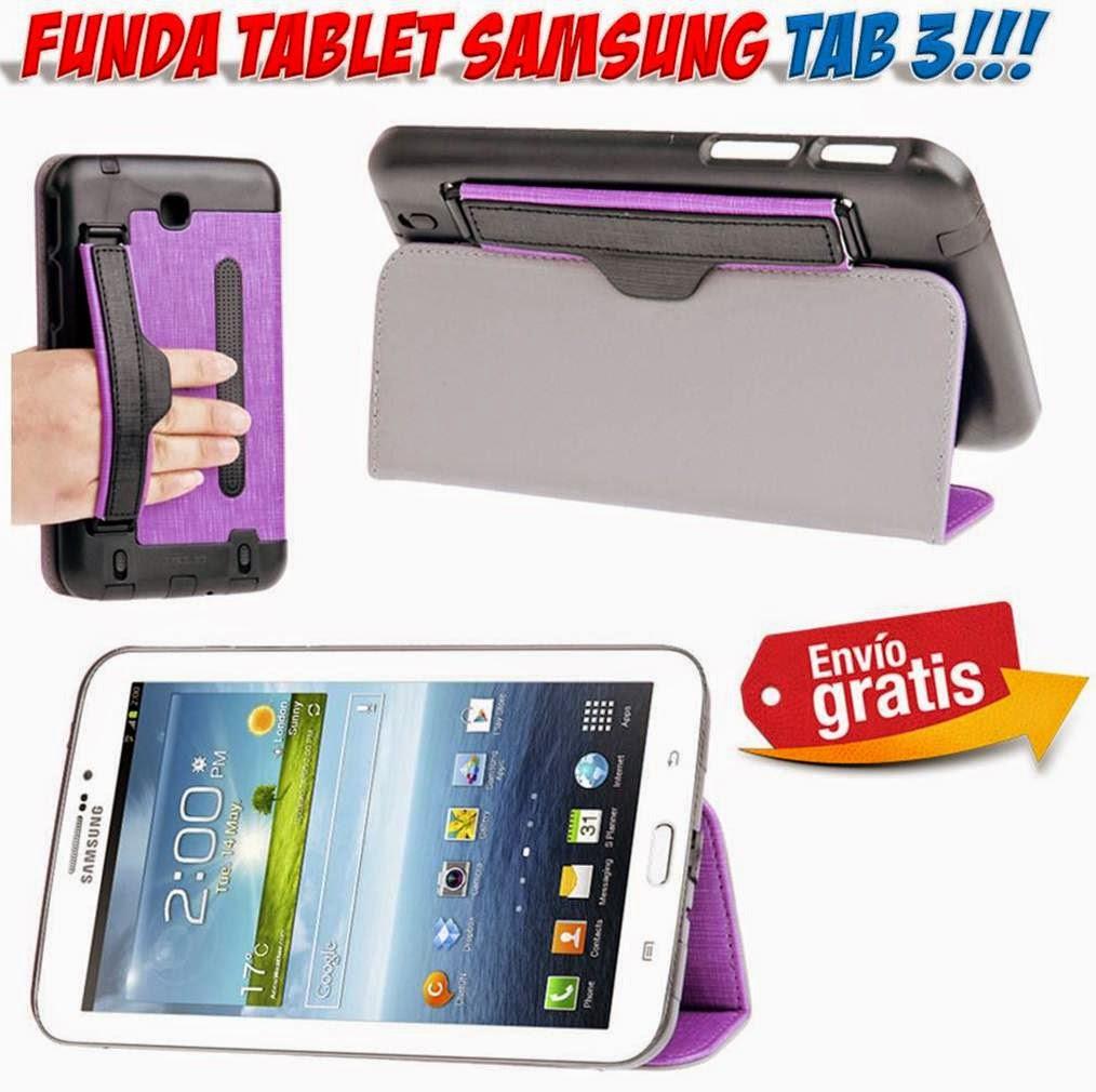Funda tablet samsung galaxy tab 3 con correa el stica para mano - Funda samsung galaxy tab ...