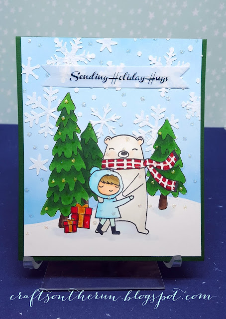Onlinecardclasses, Wplus9, copic markers, Christmas Cards