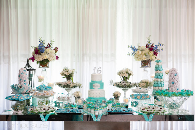 blooming table tiffany blue sweet 16. Black Bedroom Furniture Sets. Home Design Ideas