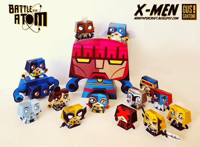 XMen Battle of the Atom Paper Toys