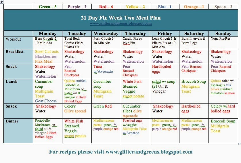 21 Day Fix, 21 Day fix Hybrid, Chalean Extreme, Meal plan, 21 Day Fix meal plan, beachbody, clean eating