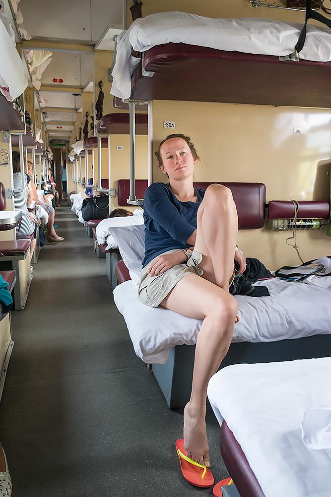 Kolej Transsyberyjska - Japonki bez skarpetek