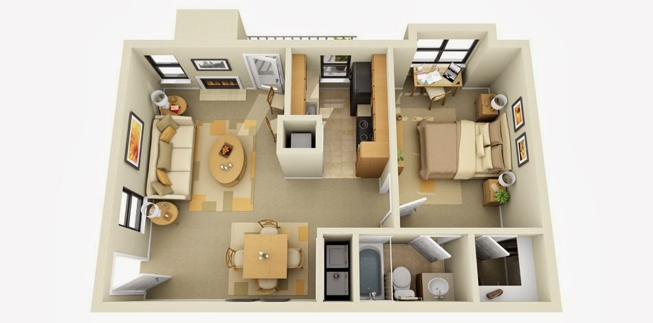 Remarkable Amazing 3D House Plan 950 x 470 · 50 kB · jpeg