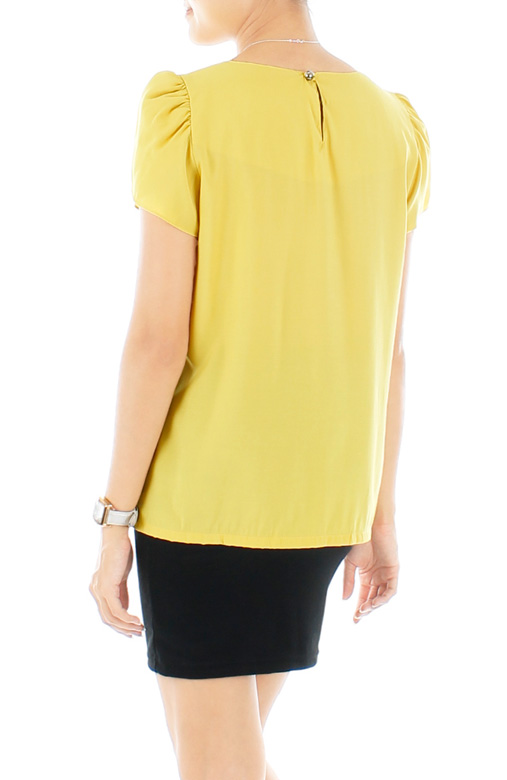 Lemonade Pleated Work Blouse