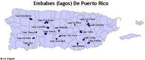 Mapa lagos de Puerto Rico