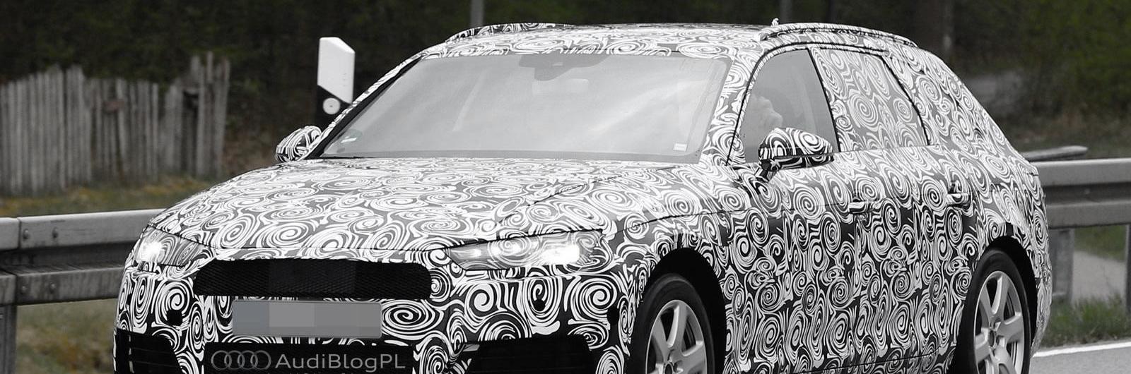 Testy prototypu Audi A4 Avant B9