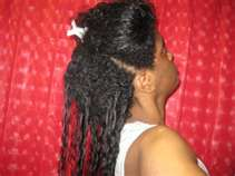 what texlaxed hair looks like after washing out the chemical relaxer
