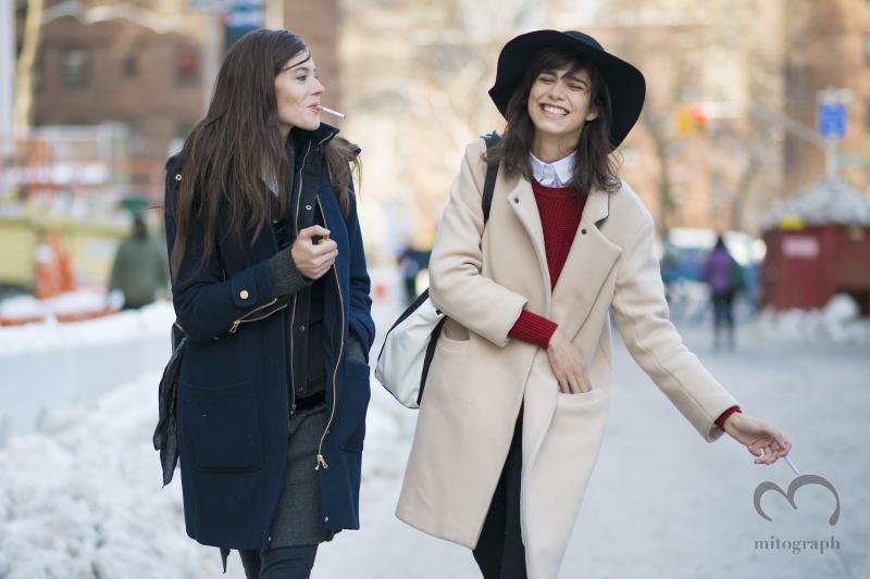 Mitograph Carla Ciffoni And Mica Arganaraz After Richard Chai Love New York Fashion Week 2014