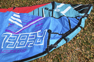 Repair of Kitesurfing Kite North Rebel
