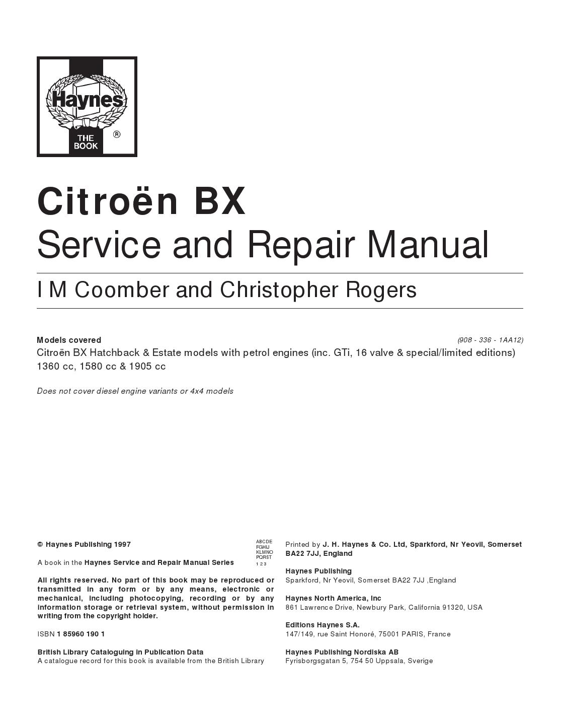citroen manuals free citro n bx service and repair manual pdf. Black Bedroom Furniture Sets. Home Design Ideas