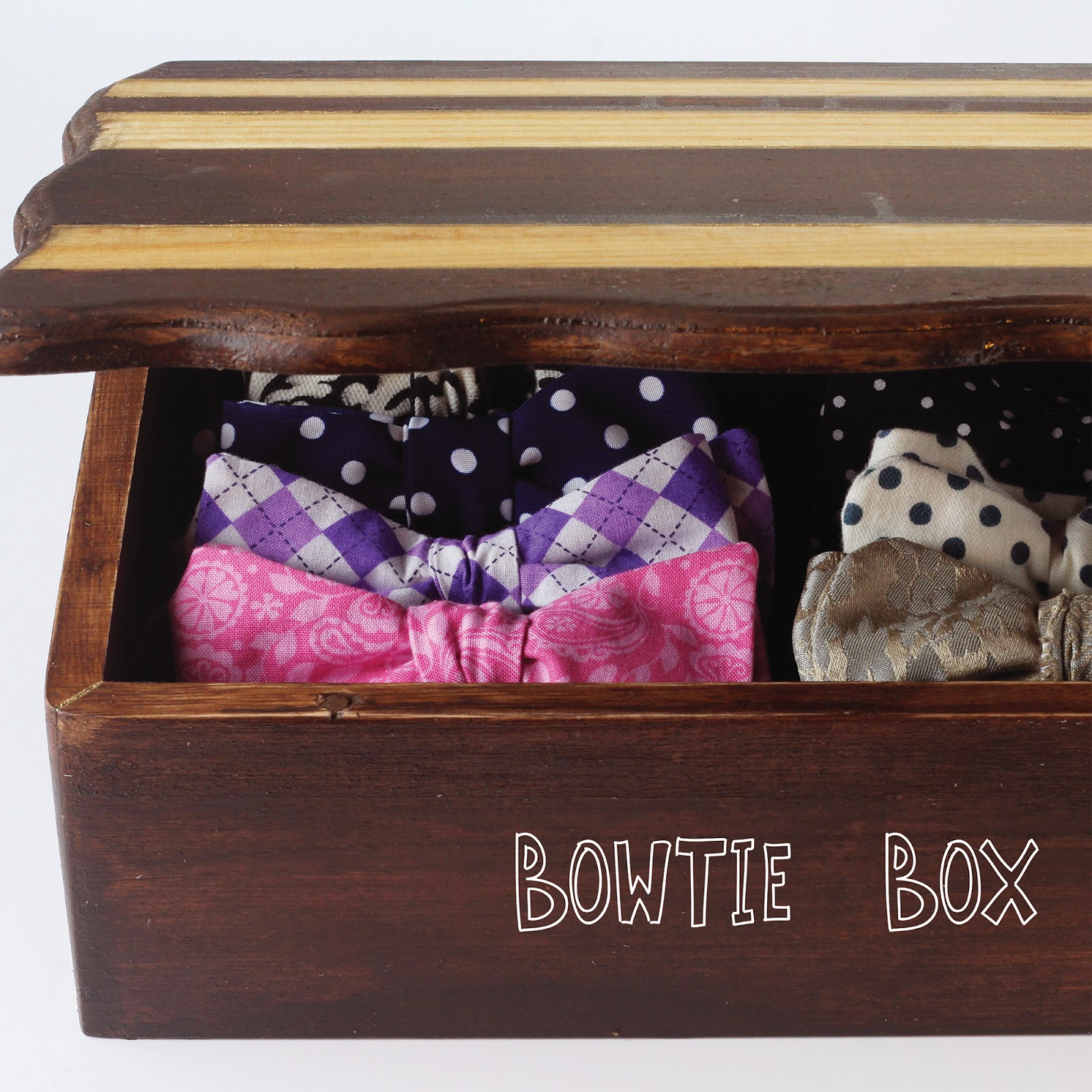 we can make anything bow tie box. Black Bedroom Furniture Sets. Home Design Ideas