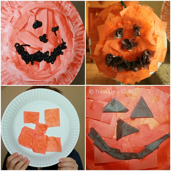 Paper Plate Pumpkin Crafts