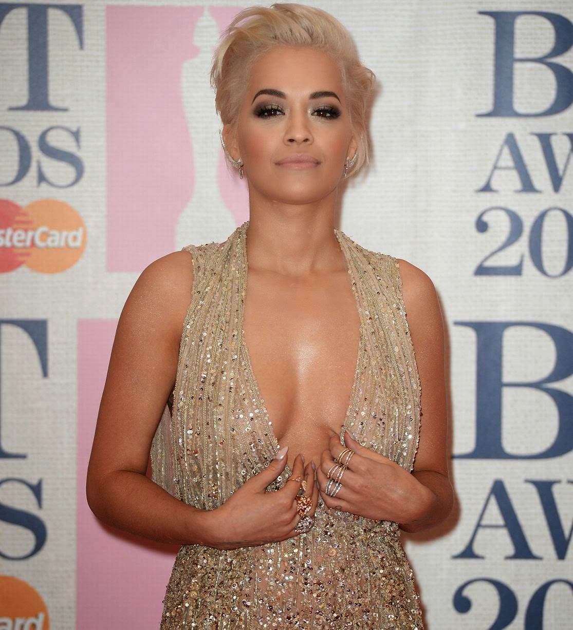 Rita Ora - 2015 BRIT Awards in London