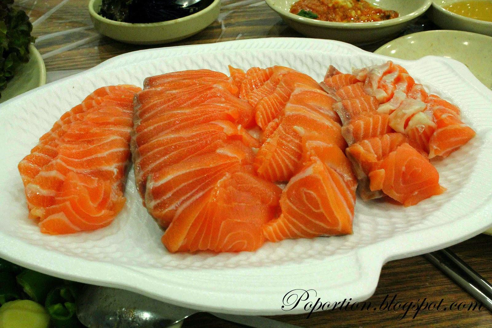 korea where to eat seafood salmon sashimi