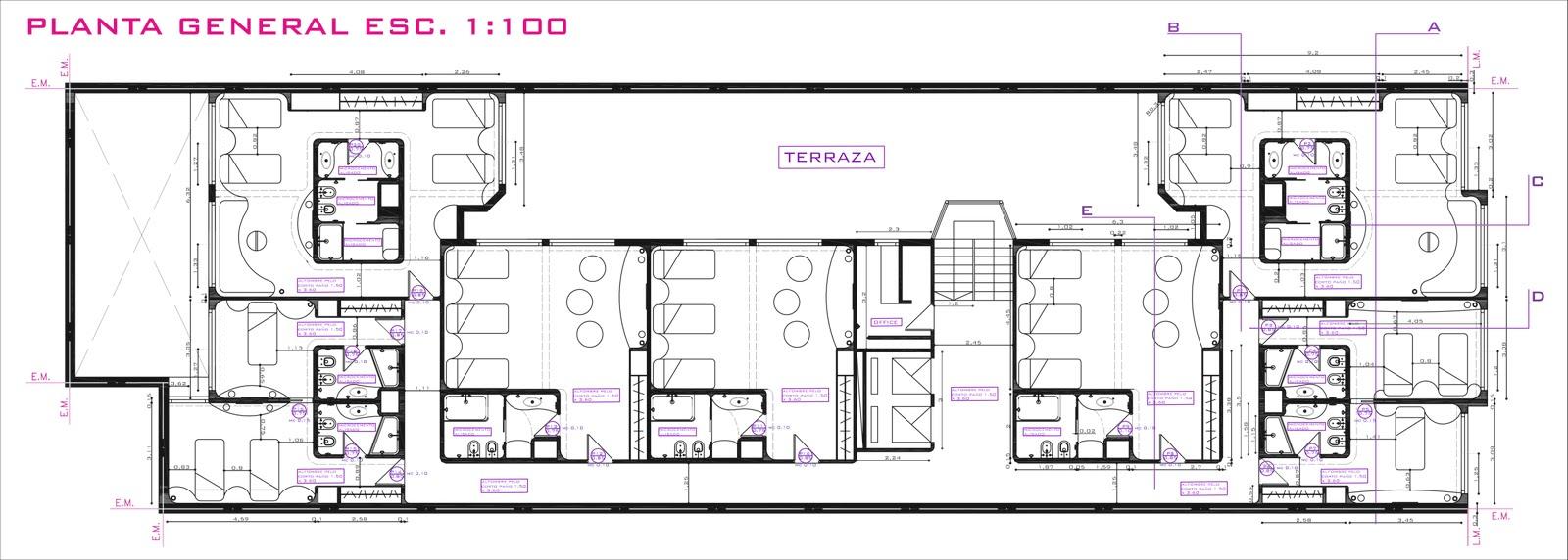 Rf dise os proyecto remodelacion hotel ciudad de mar del - Plantas para habitacion ...
