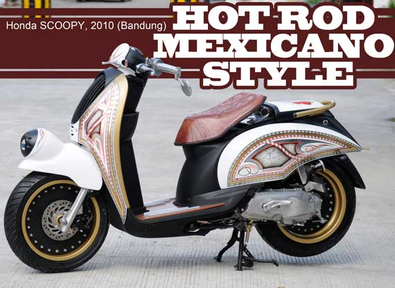 Motor Honda Scoopy Scoopy dengan pelek 17 | modifikasi honda scoopy title=