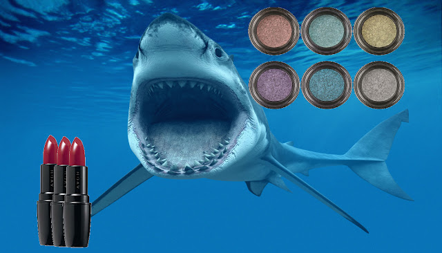 Shark liver oil squalene in eye makeup lipstick