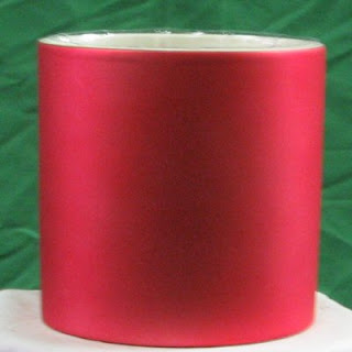 Order A Red Satin Matte Finished Ceramic Floral Cylinder Container for Wedding Centerpieces