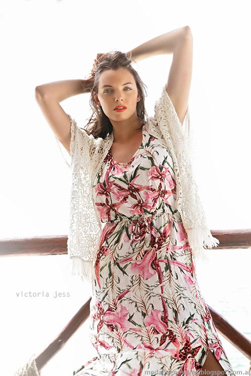 Moda primavera verano 2015 vestidos largos Victoria Jess.