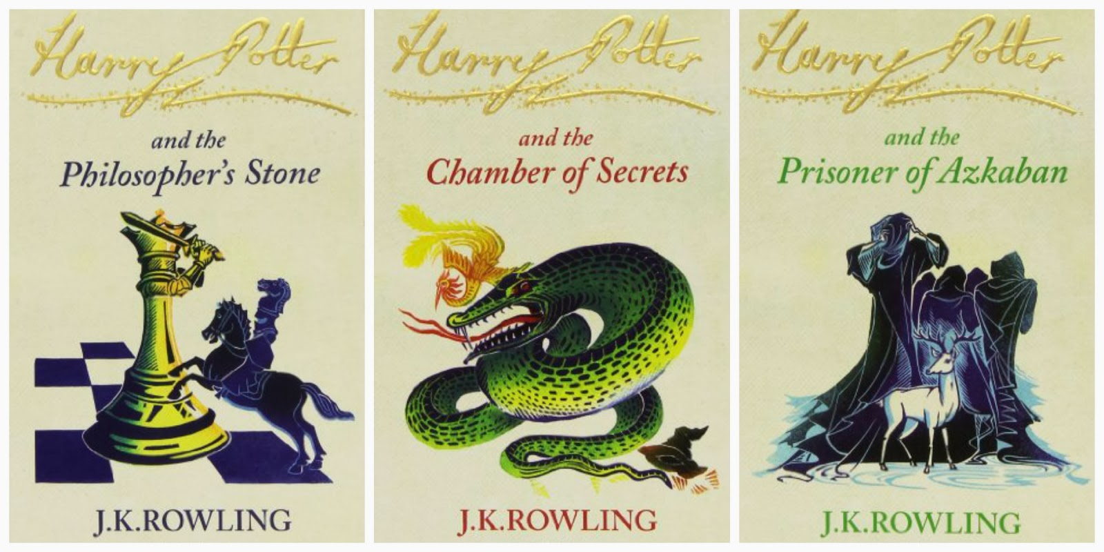 Harry Potter and the Philosopher's Stone / Chamber of Secrets / Prisoner of Azkaban by J.K. Rowling