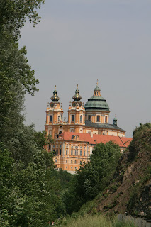 A glimpse of the Abbey in Melk Austria