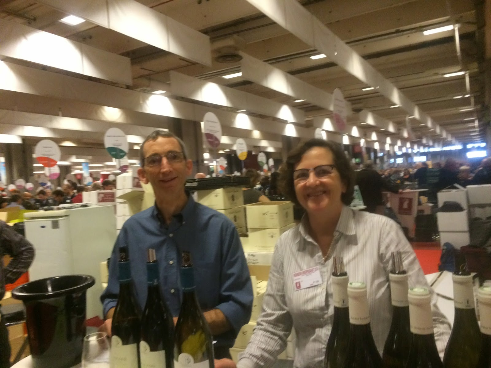 Brigitte Berthelemot et Marc Cugney au Salon des Vignerons Indépendants