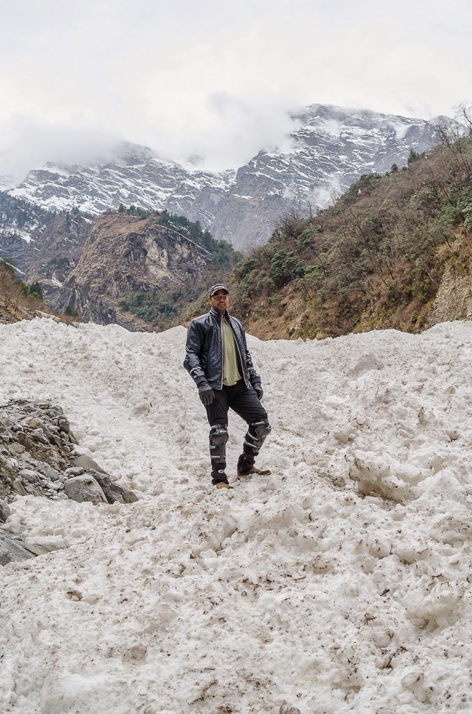 glacier in uttarakhand, niraj yadav, bike trip