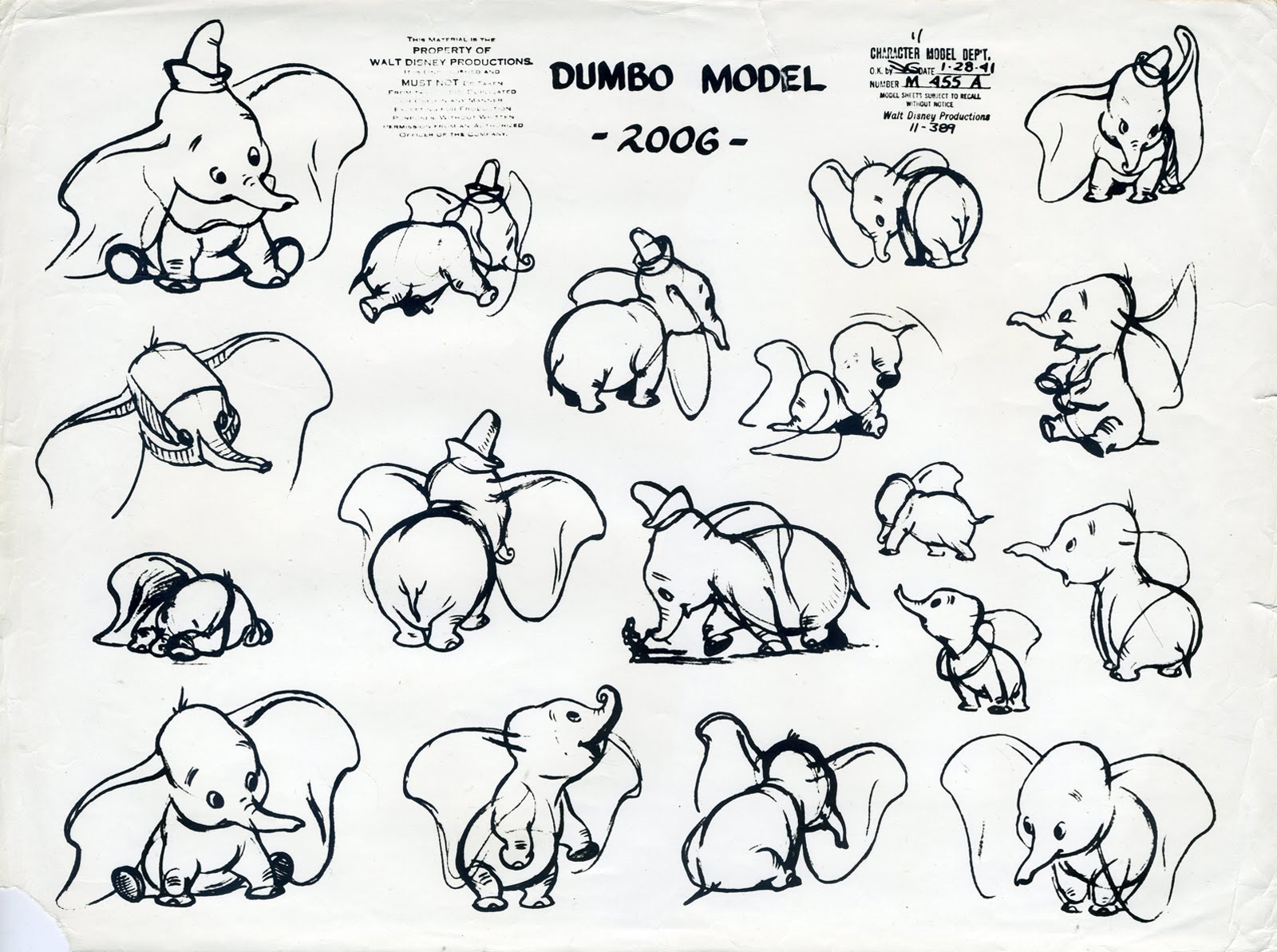 Cartoon Character Design Sheet : Deja view bill peet s dumbo