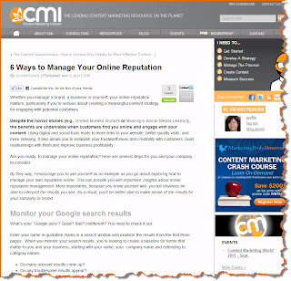 How To Manage Your Online Reputation by CB Whittemore