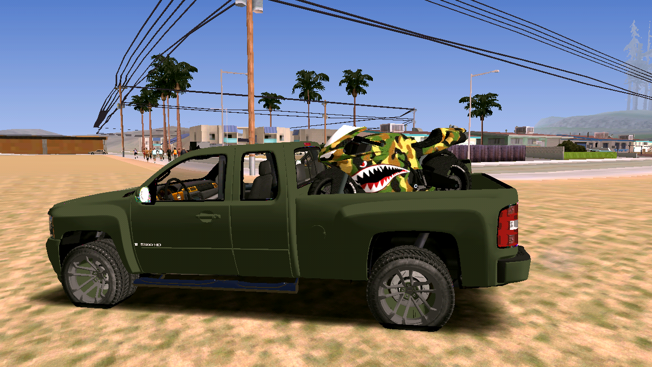 Download CHEVROLET SILVERADO 2500 BEST EDITION CAR MOD FOR ANDROID - MOD GTA ANDROID