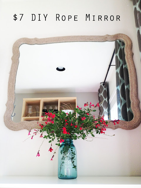 $7 DIY Rope Mirror by The Happy Homebodies