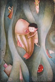 hal, kisfiú, nem szereti a pecázást, Pepe a halakat szeretné megmenteni,tóban fürdés hallal, hajó, labda a vízben, the little boy, who loves fishes, but fishing don't, swimming in the water, ships, ball, happiness