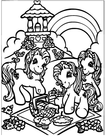 Disegni da colorare disegni da colorare my little pony - Colorare le pagine di pony ...
