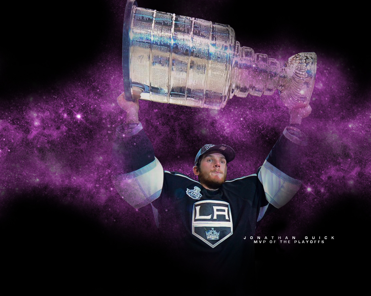 jonathan quick mvp kings stanley cup champion wallpaper