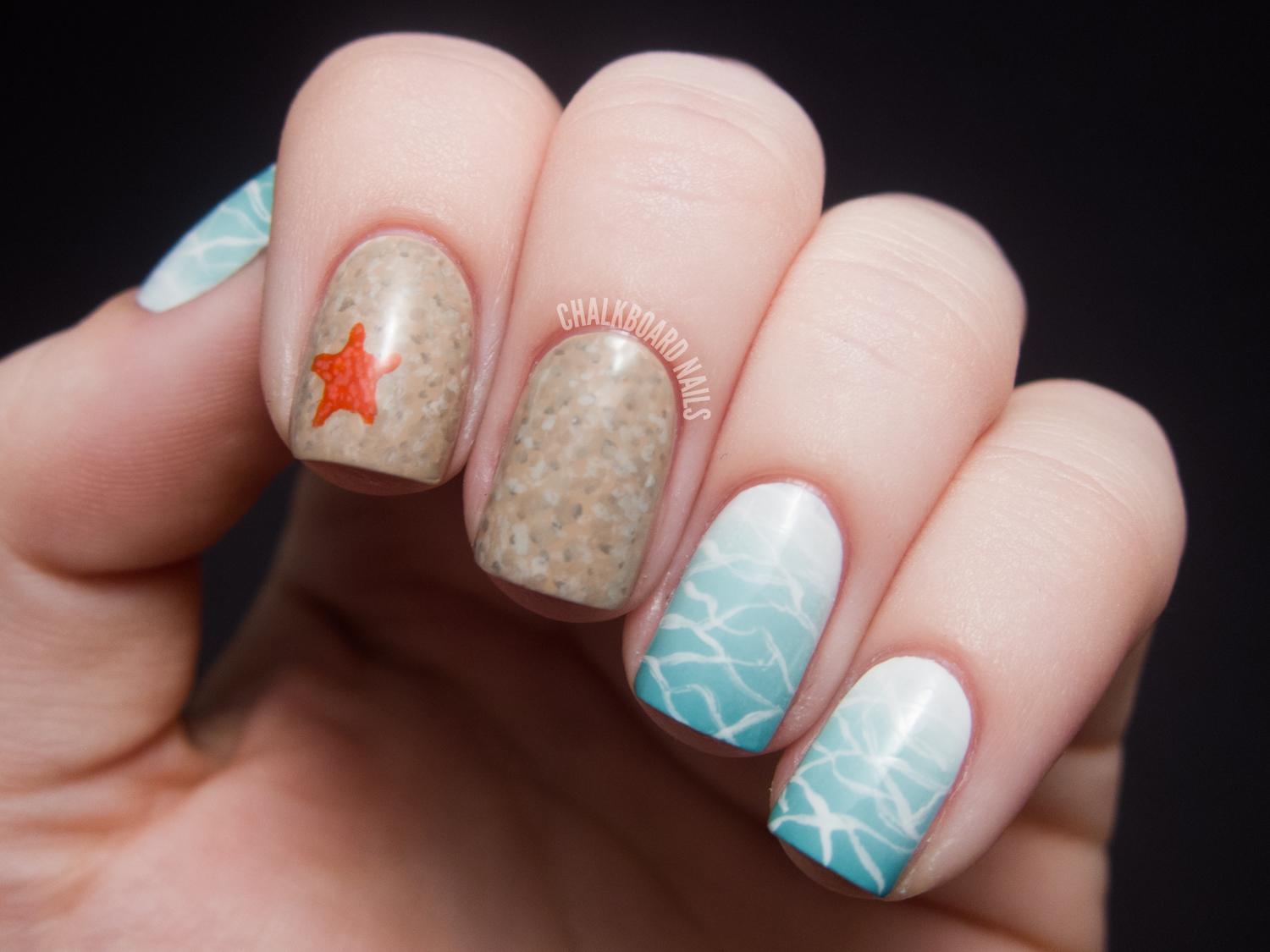 Beauty and the Beach   Chalkboard Nails   Nail Art Blog