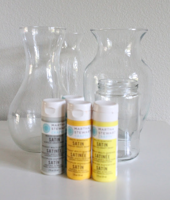 tutorial painted vases mason jars bottles