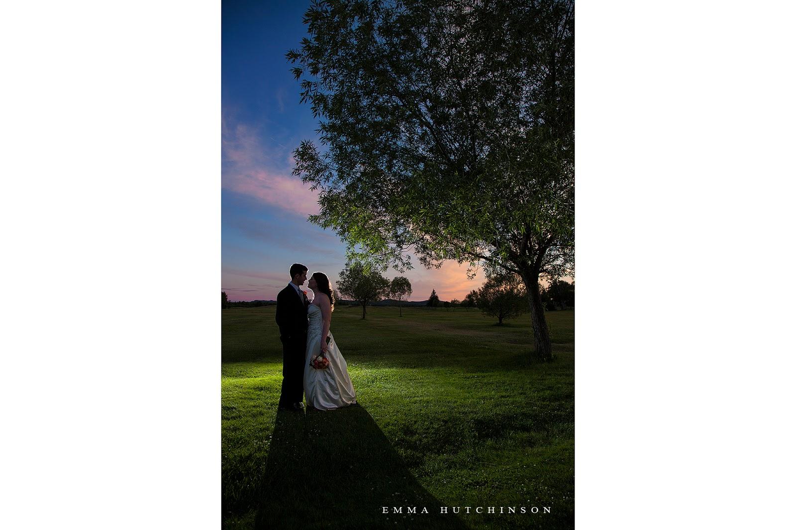 Grand Falls Golf Club Wedding sunset