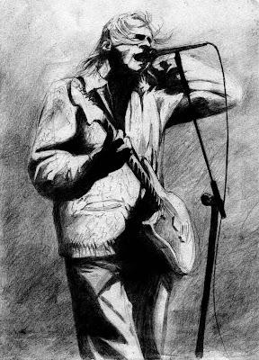 desenho kurt cobain