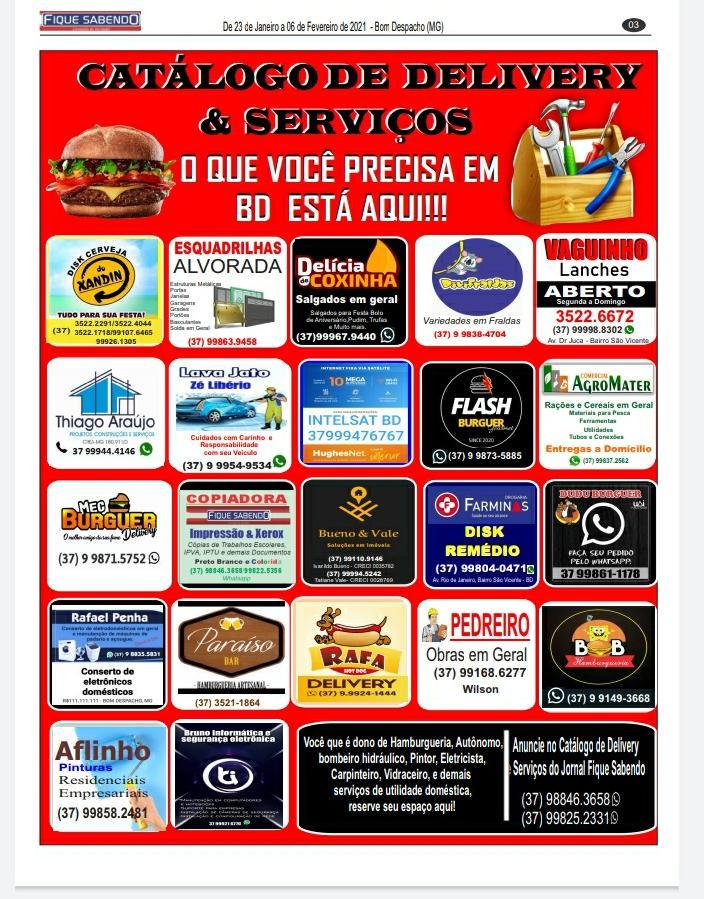 CATALÓGO DE DELIVERY E SERVIÇOS