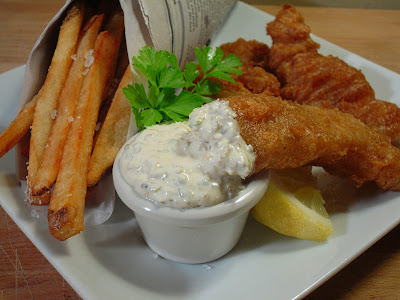 Comfy cuisine beer battered fish chips london style for What to serve with fish