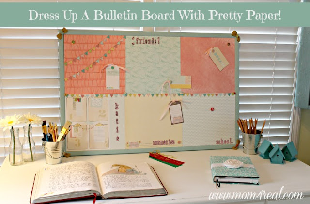 Craft projects make it monday the everyday home for Pretty bulletin board