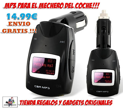 reproductor transmisor MP3 para mechero del coche