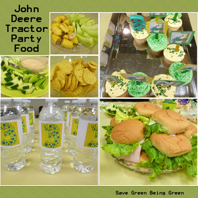 Save Green Being Green John Deere Tractor Theme Party