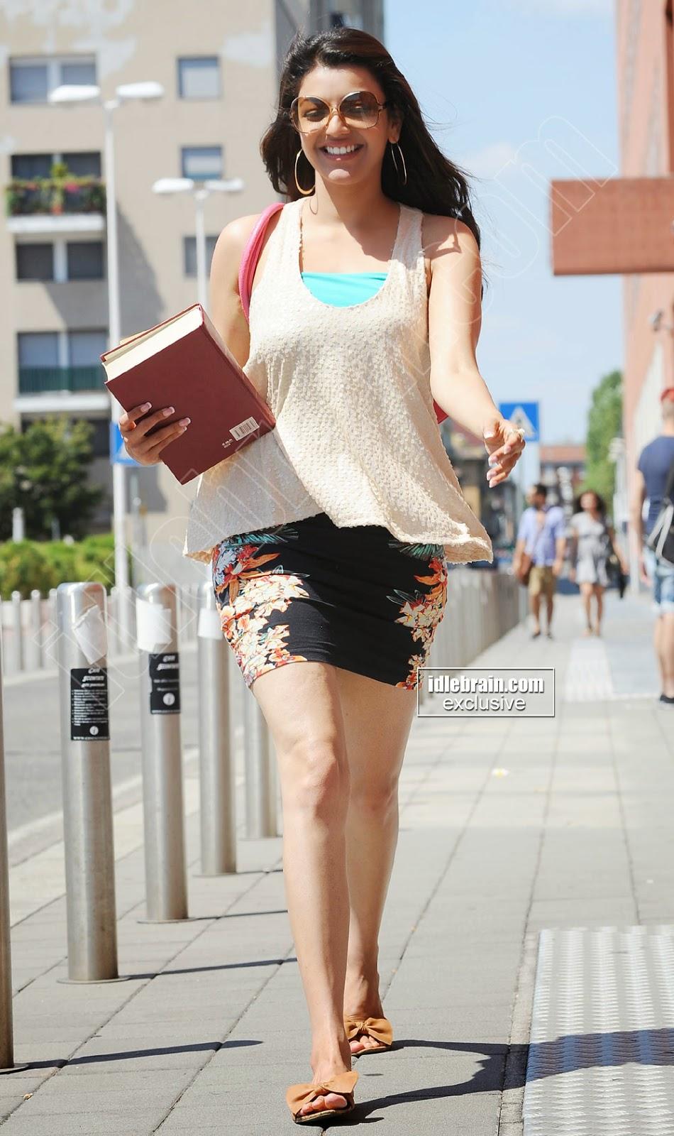 Kajal Agarwal walking