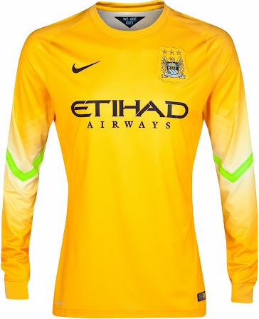 The new manchester city 2014 15 goalkeeper jerseys